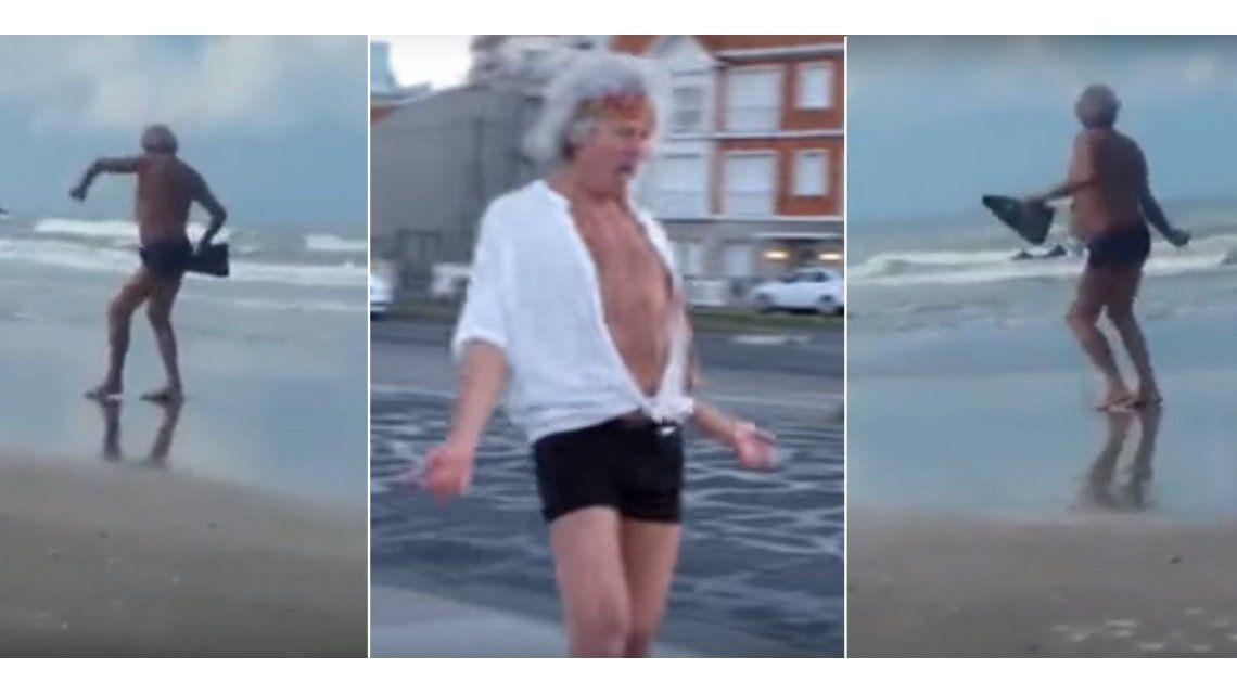 ¿Keith Richards se quedó en Mar del Plata?: Su doble baila, canta y anda en rollers