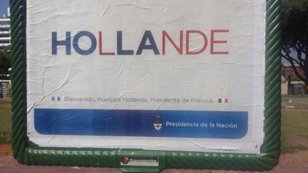 El error en un cartel de Presidencia del que habló todo Twitter
