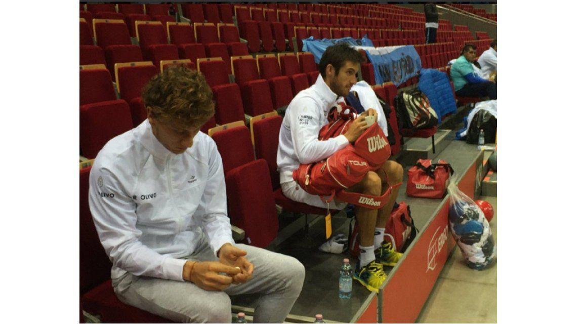 Copa Davis: con equipo completo, Argentina ya entrena en suelo polaco