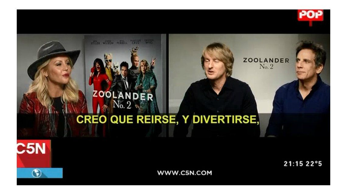 La divertida entrevista a Ben Stiller y Owen Wilson: ¿se viene Zoolander 3 en Argentina?