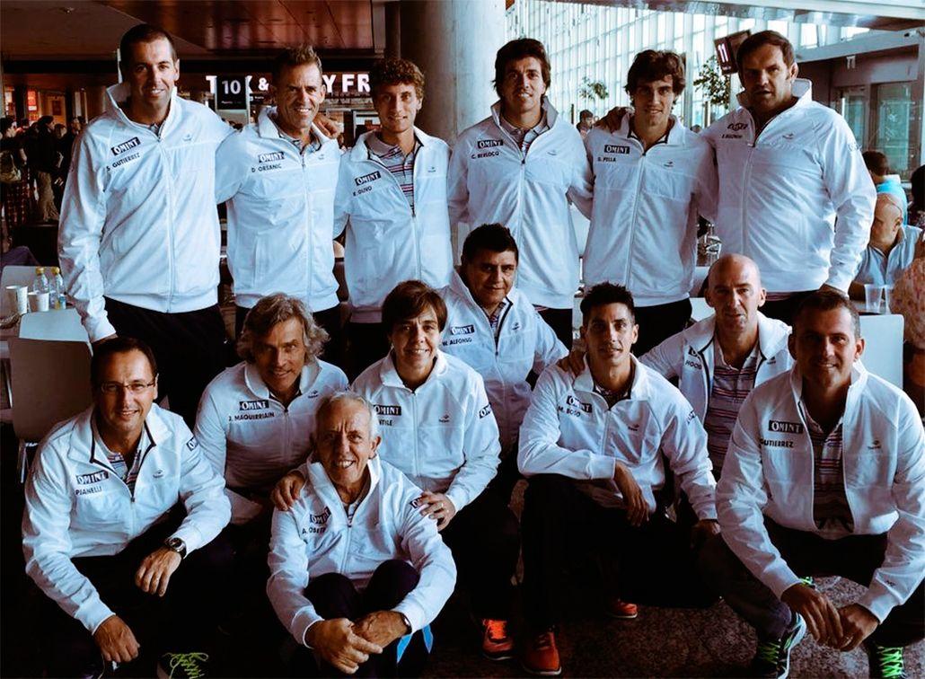 El equipo argentino llegó a Polonia para jugar la primera ronda de la Copa Davis
