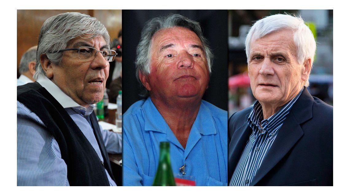 Moyano, Caló y Barrionuevo se reúnen este martes por la reunificación de la CGT