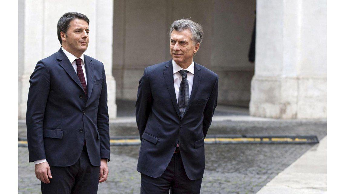 Macri se reunió con el presidente de Italia y el primer ministro para profundizar lazos