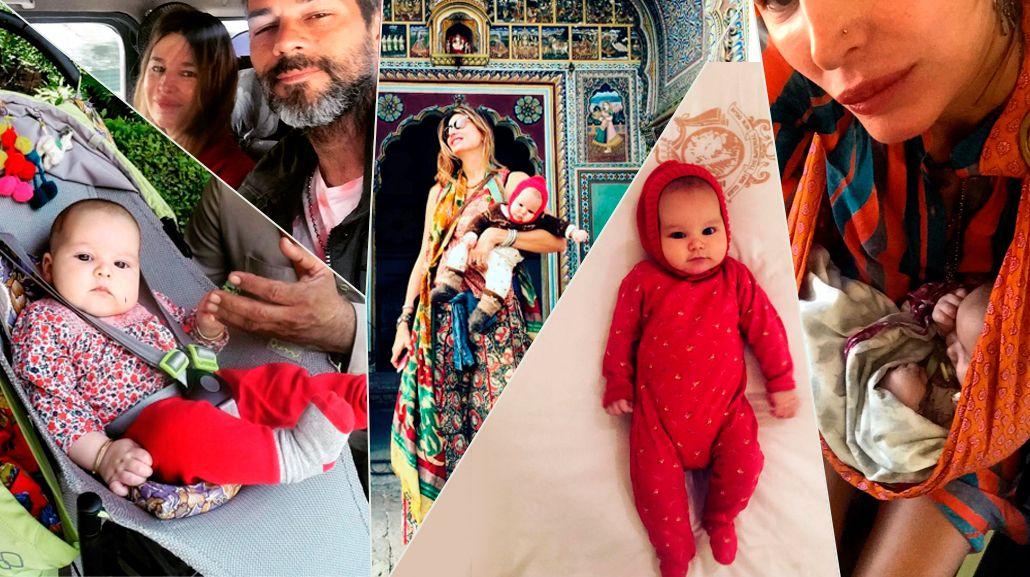 Mirá las fotos del primer viaje de Dolores Barreiro a la India con su beba