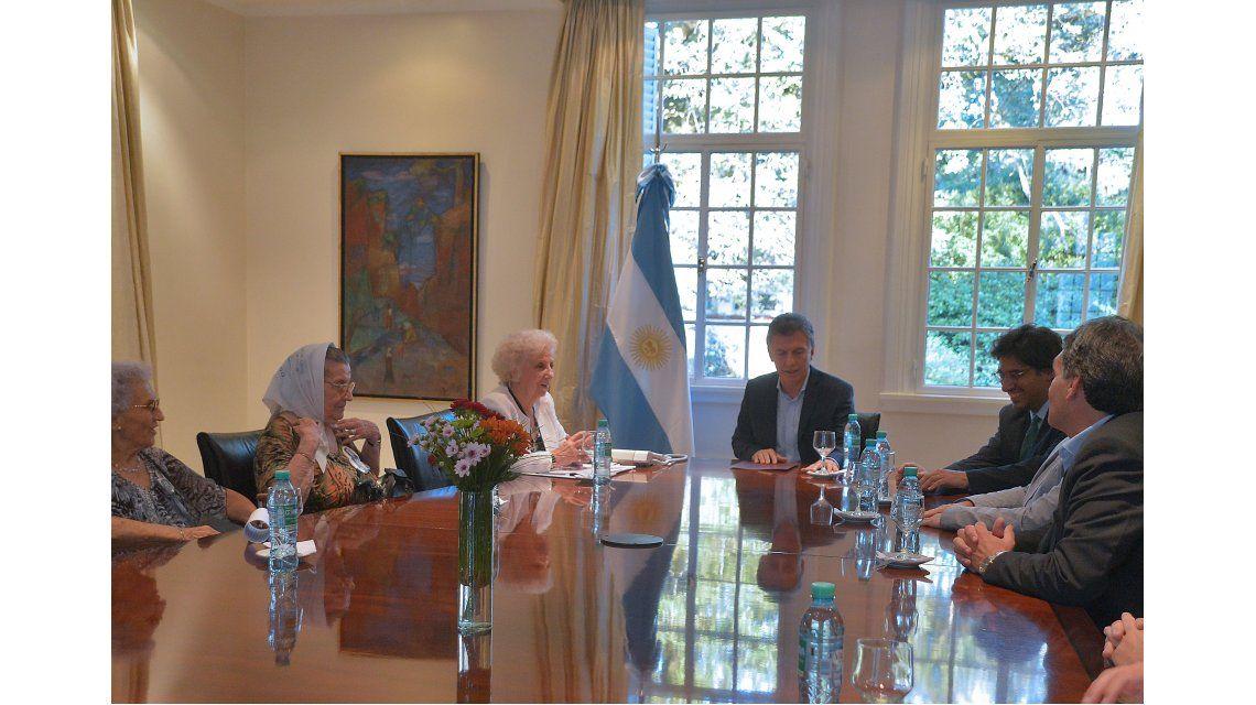 Macri recibió a organismos de Derechos Humanos en la Quinta de Olivos