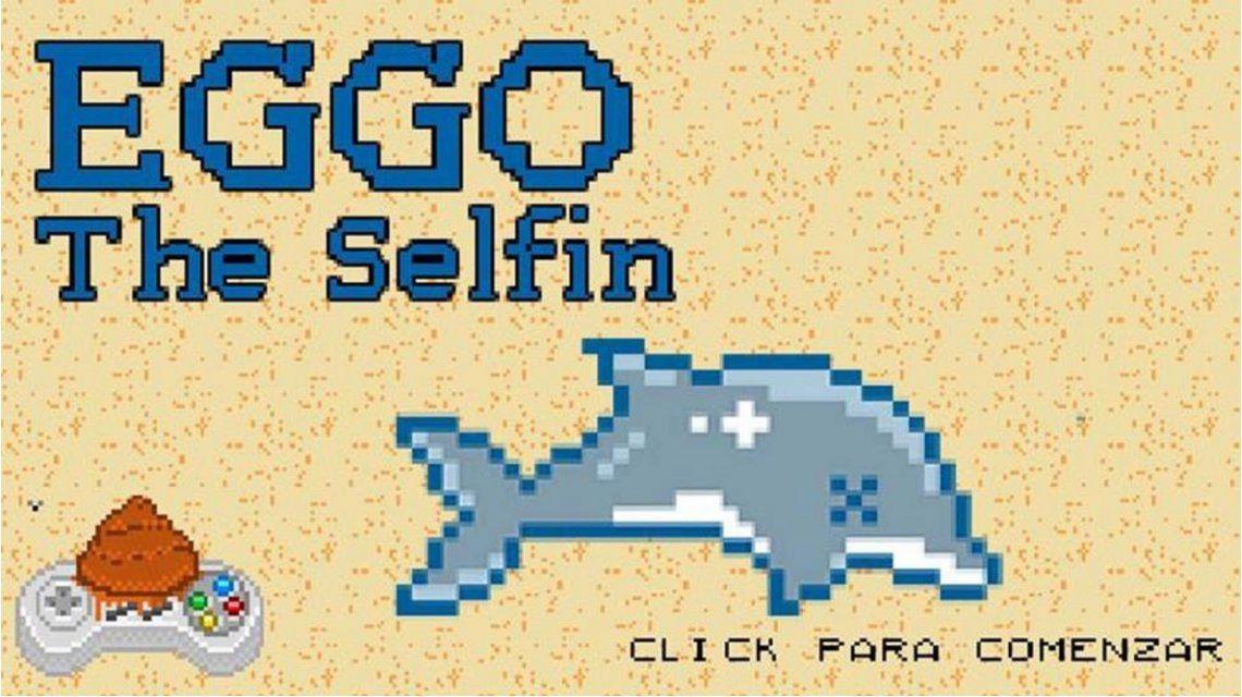 Insólito: crean un juego para sacarse selfies con el delfín muerto