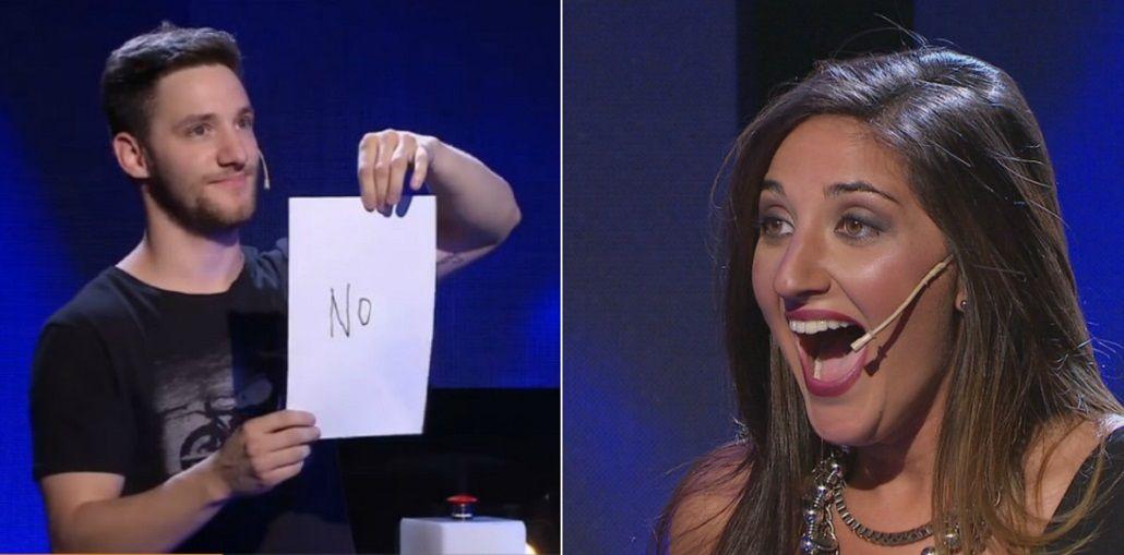 El participante le dijo no al beso y ella lo escrachó: ¡Bastante cag...!