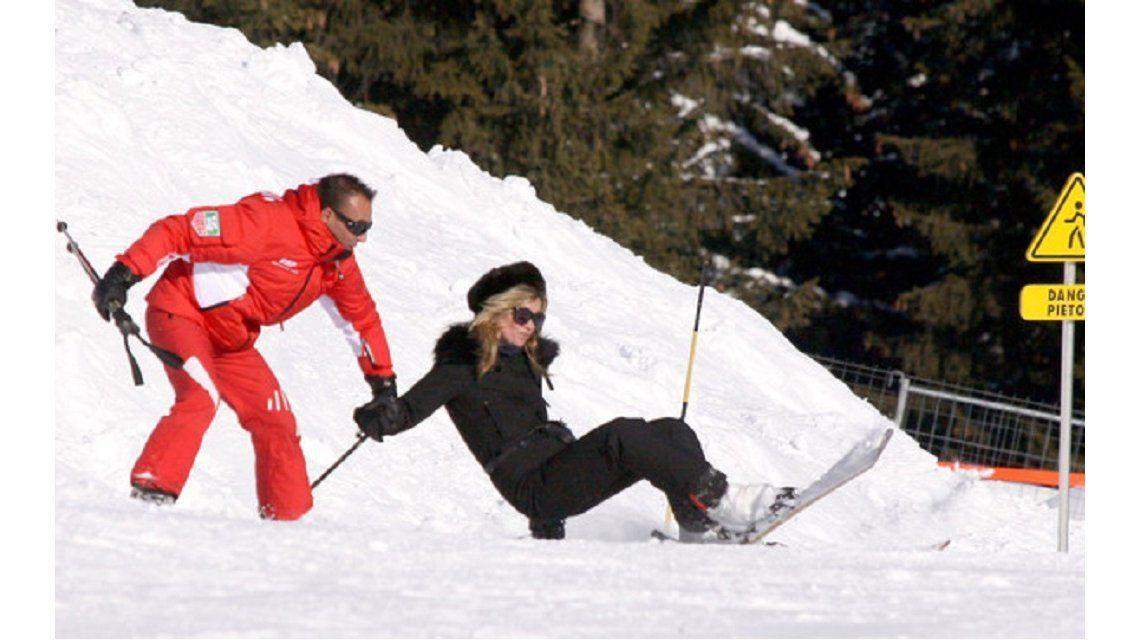 Kate Moss sufrió un accidente cuando esquiaba en los Alpes suizos