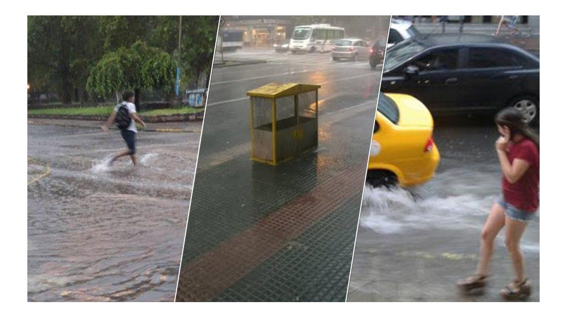 Temporal en Córdoba: intensa lluvia, calles inundadas y cortes de luz