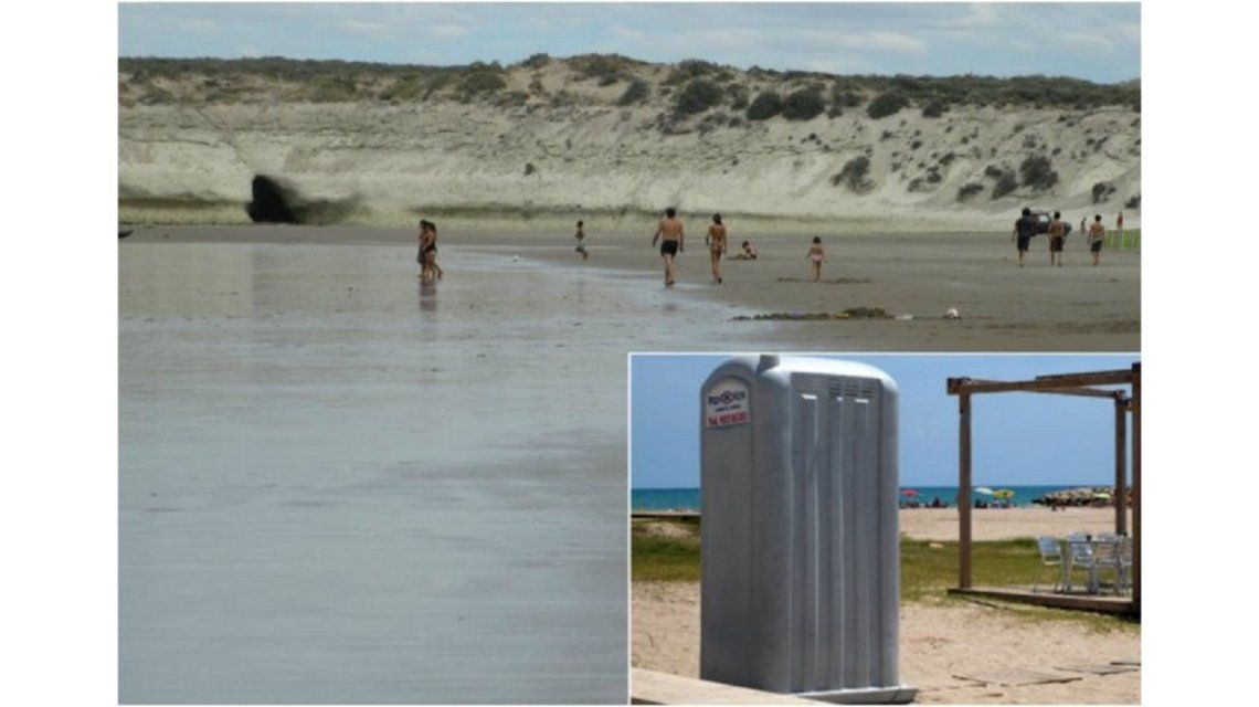 Insólito: Robaron un baño químico en una playa de Chubut