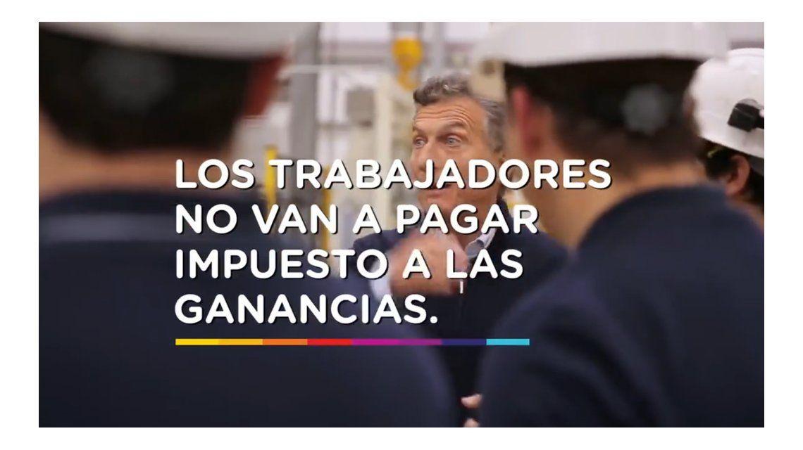 Promesa de campaña: En mi Gobierno, los trabajadores no van a pagar Ganancias