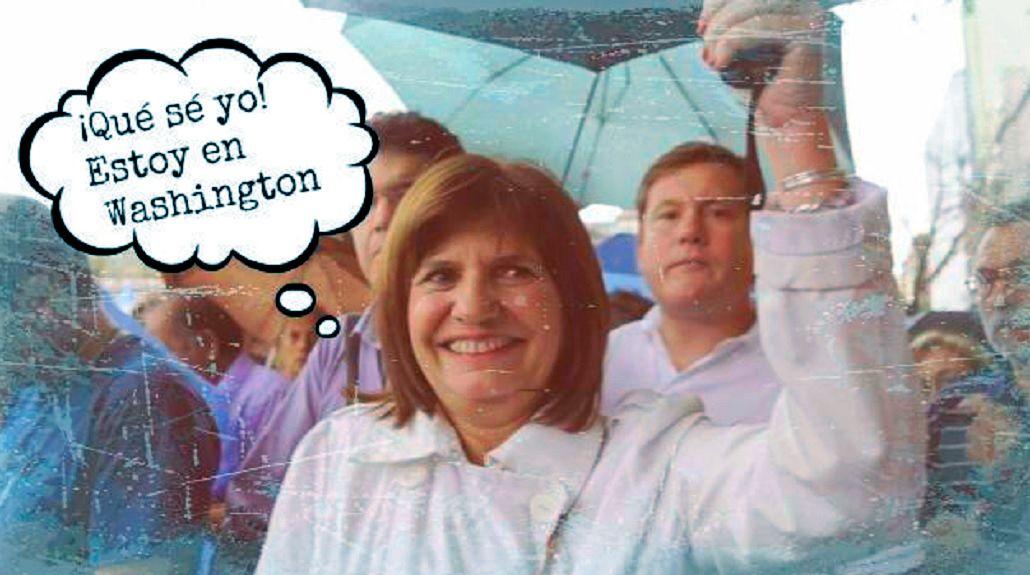 Bullrich se fue a Washington y las burlas estallaron en Twitter