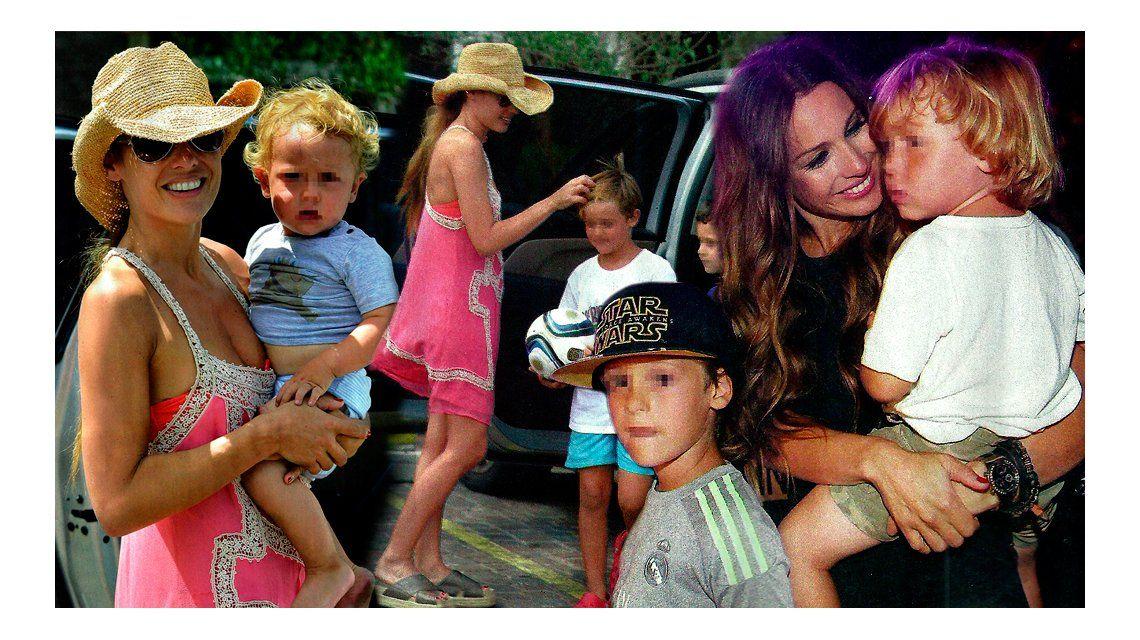 Pampita se reencontró con sus hijos tras su regreso de Nueva York