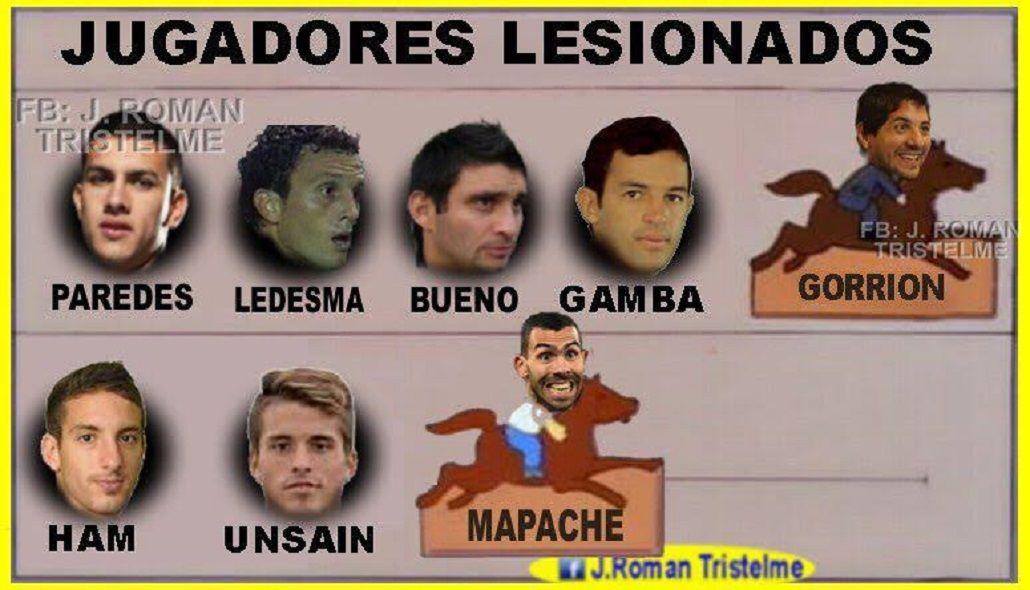 Tras el terrible rodillazo de Tevez, aparecieron los memes