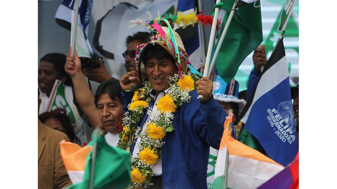 Evo Morales en plena campaña