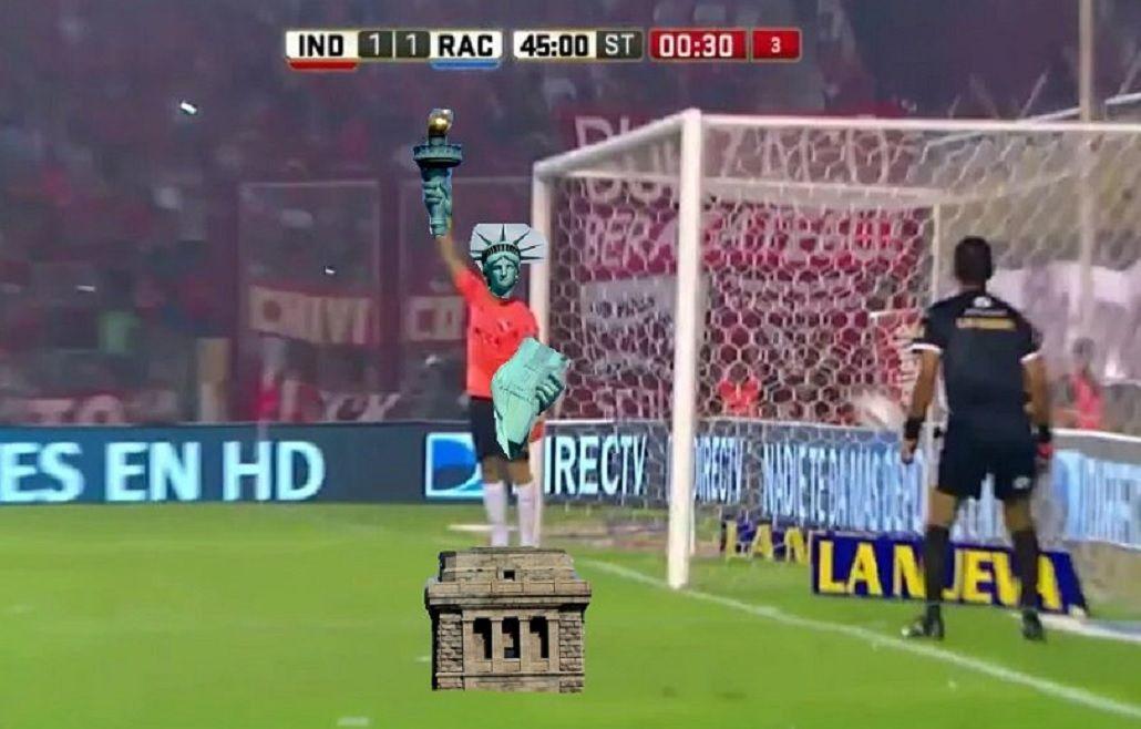 Mirá los memes de la reacción del arquero de Independiente