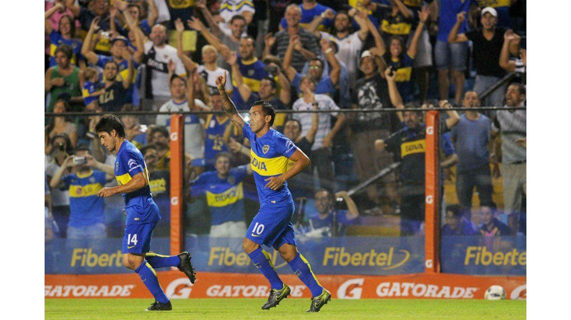 Tevez fue la figura de Boca y celebró el triunfo: Se ganó bien