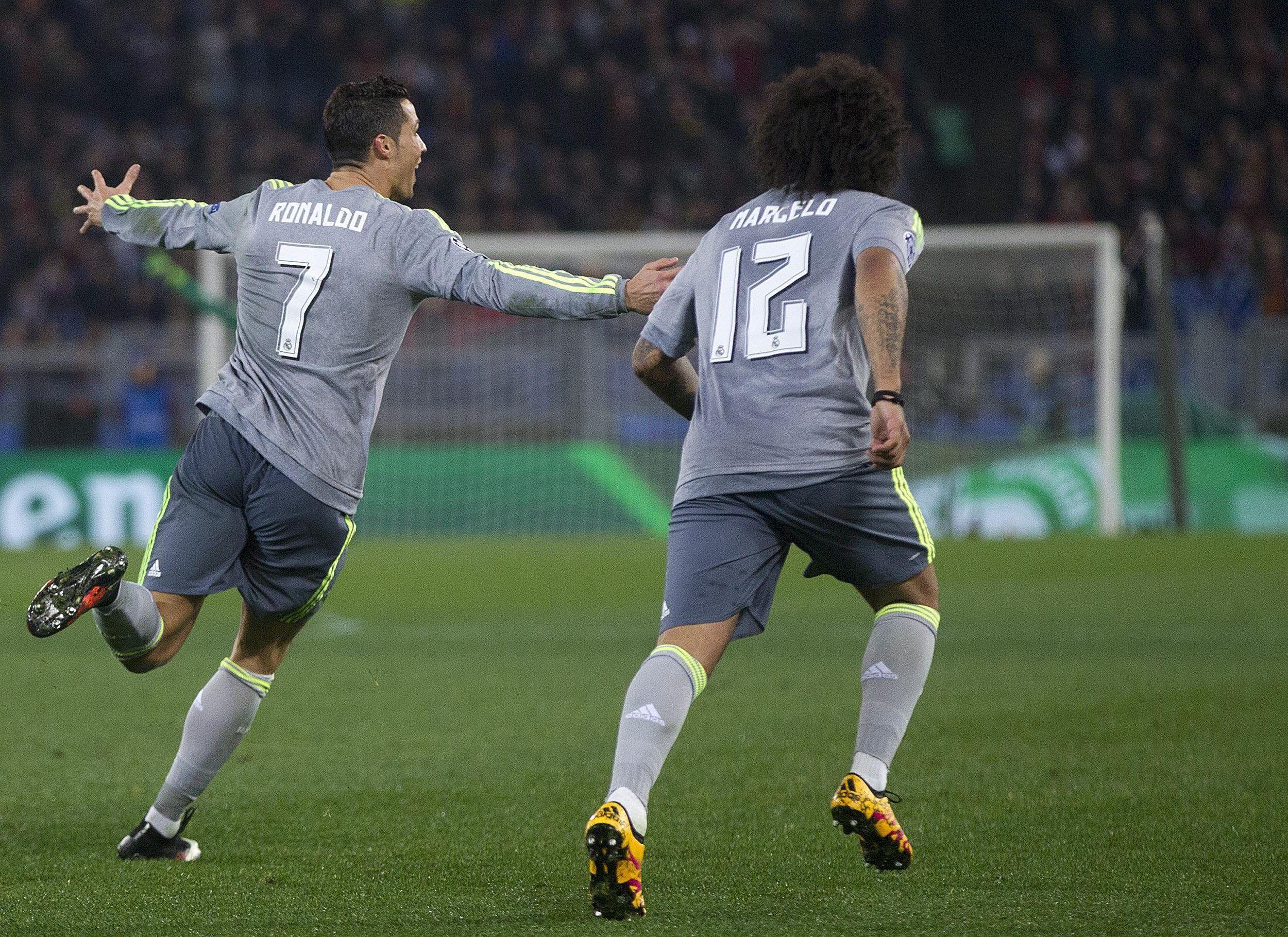Con un gol de Cristiano, el Real Madrid venció a la Roma como visitante