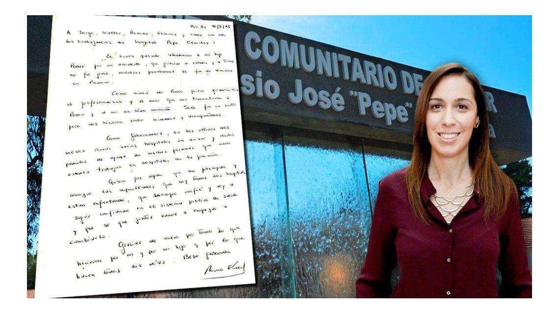 La carta de Vidal a los médicos que cuidaron a su hijo Pedro