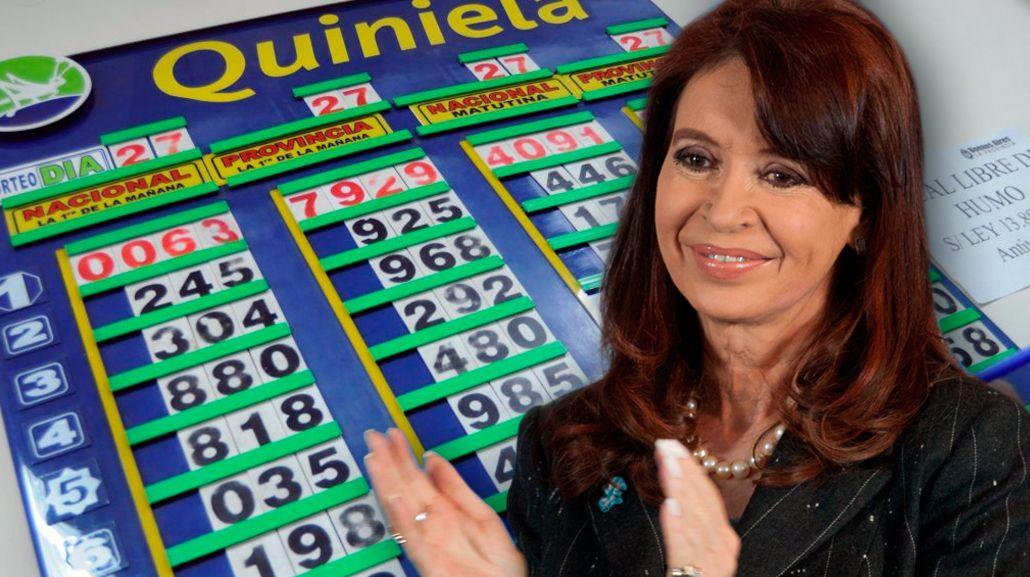 CFK trae suerte: salió el 63 en la Quiniela bonaerense
