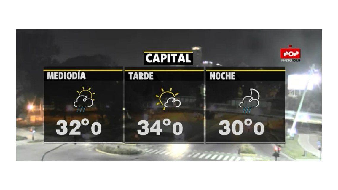 Sigue el alerta amarillo por el calor y hay chances de lluvias