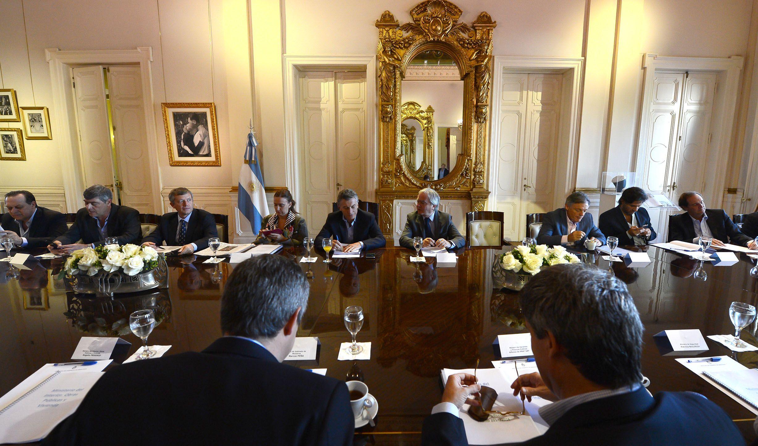 Macri encabeza este miércoles una reunión de Gabinete en Casa Rosada