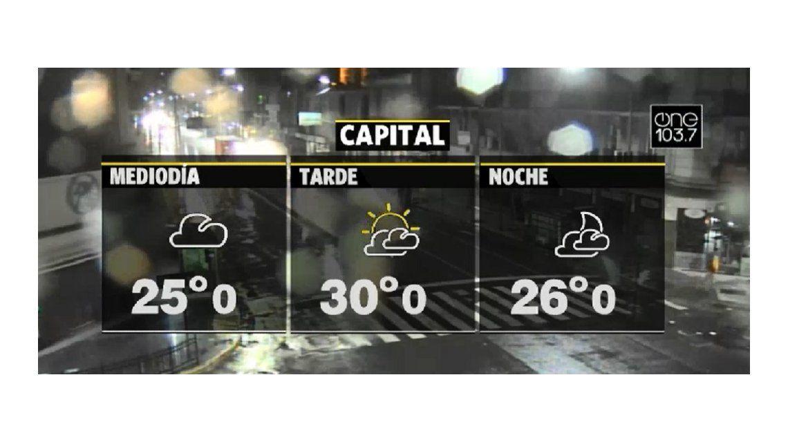 La lluvia trajo alivio a la Ciudad y el conurbano bonaerense