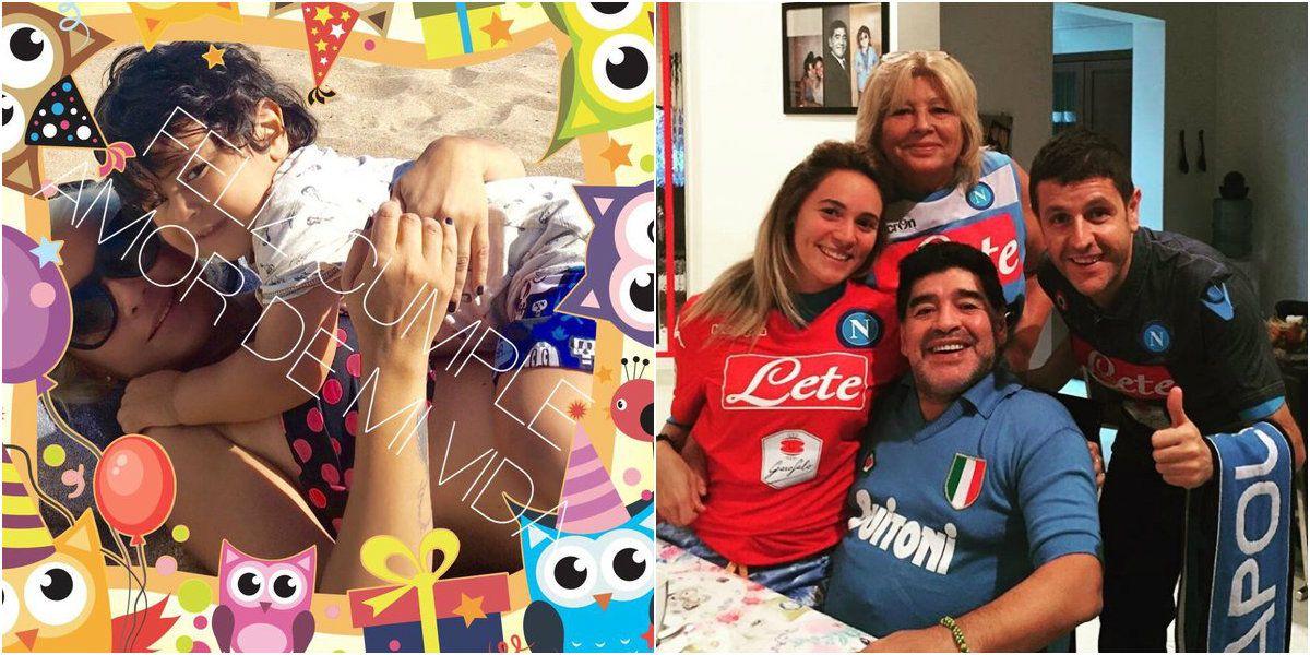Polémica: ¿Maradona se olvidó del cumpleaños de su hijo?