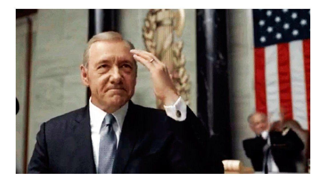 Frank Underwood le dedicó un mensaje a Federico Pinedo y su presidencia