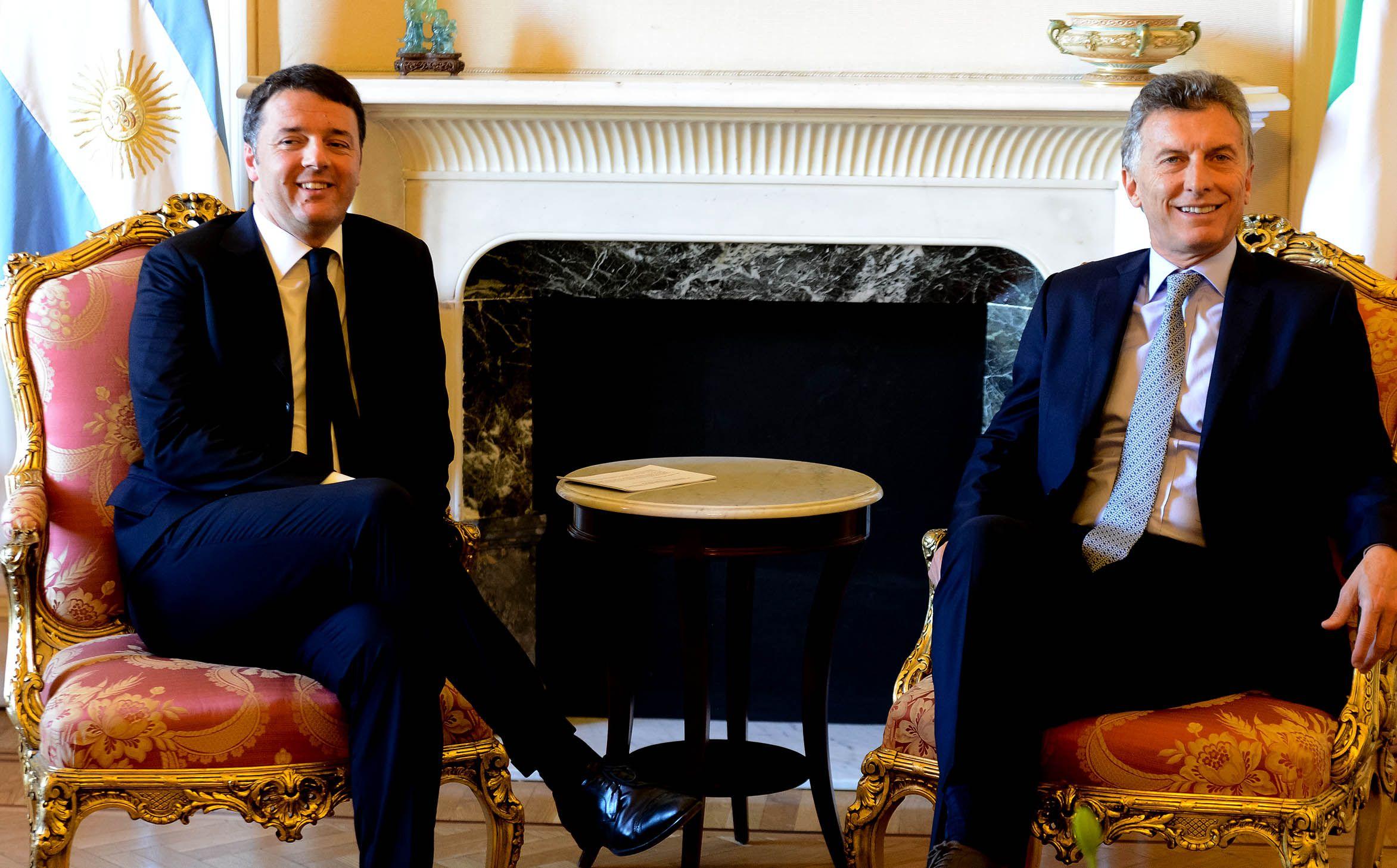 El primer ministro italiano señaló a la Argentina como un lugar sólido y estable para invertir