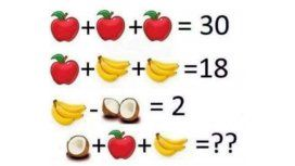 ¿Podés solucionar el problema de las frutas?