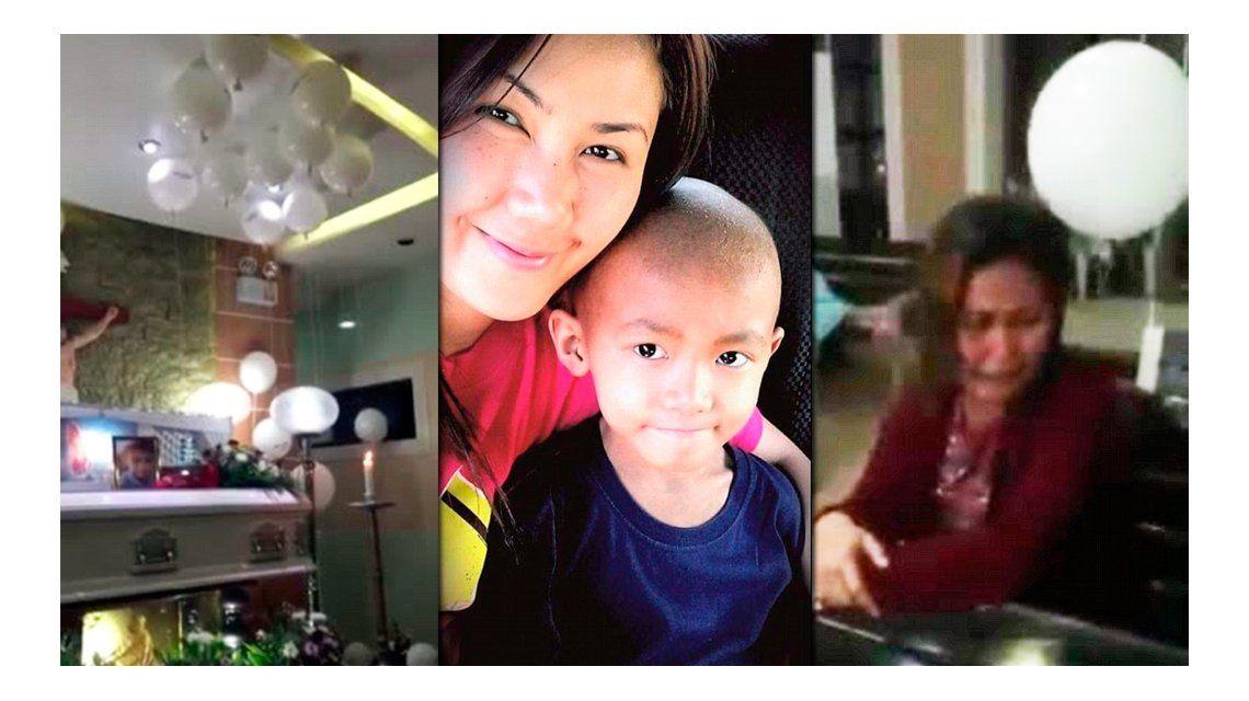 VIDEO: una madre recibe una señal de su hijo muerto en pleno funeral