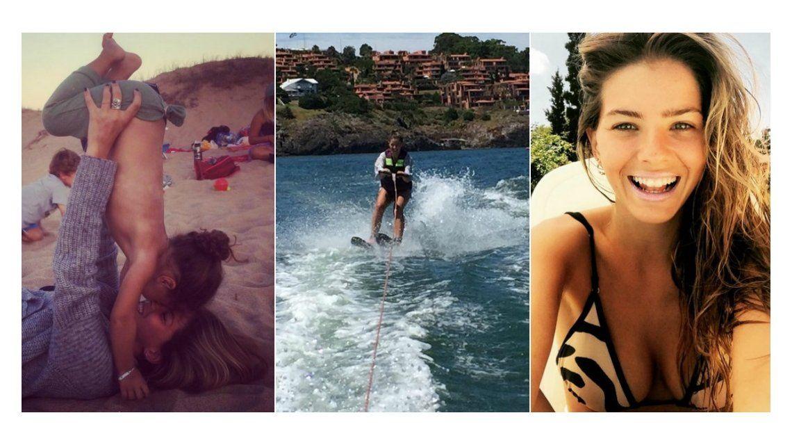 China Suárez y su hija en Punta: selfies, juegos en la playa y deportes extremos