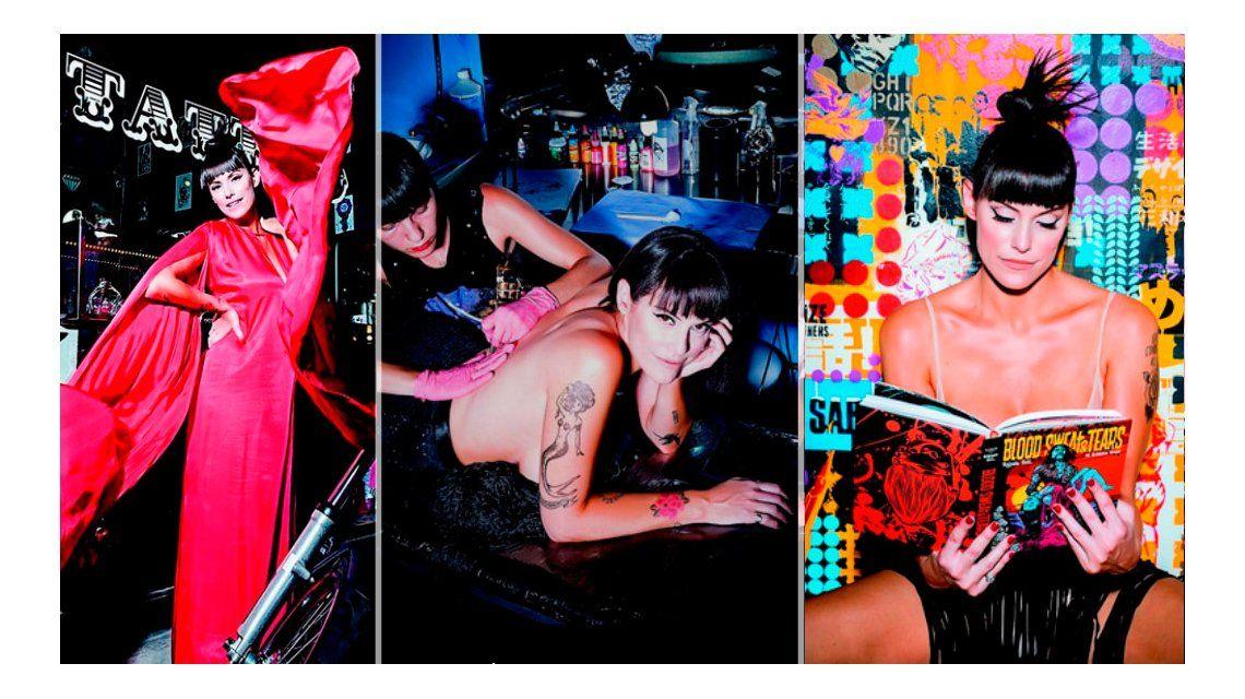 Connie Ansaldi, en una jugada producción de fotos para una revista