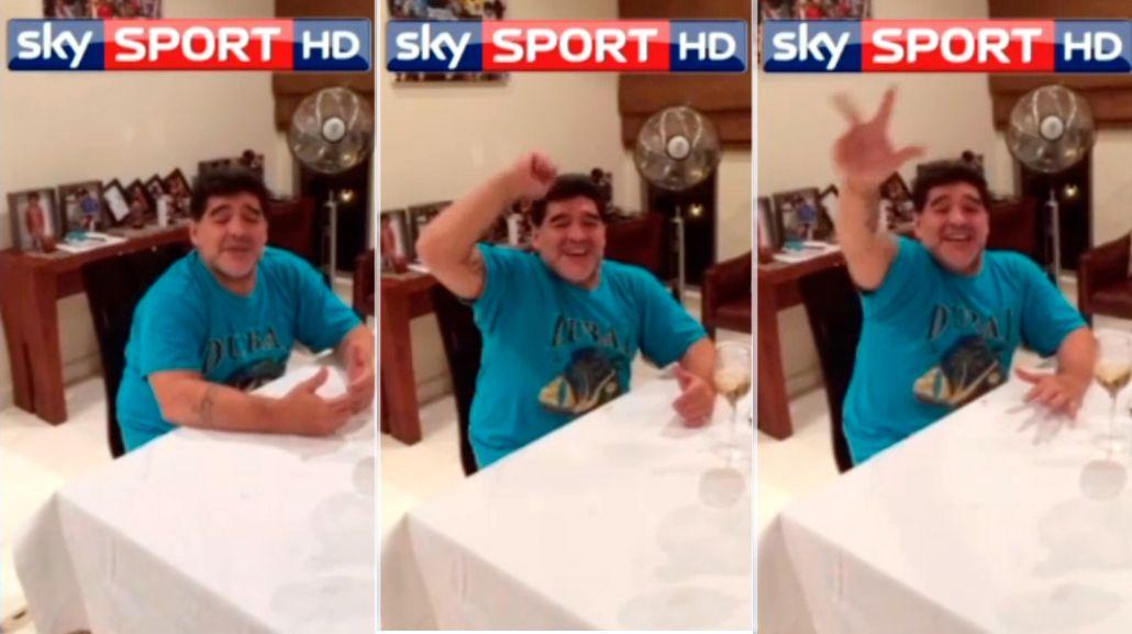 Por el título: Maradona calienta el clásico entre Nápoli y Juventus