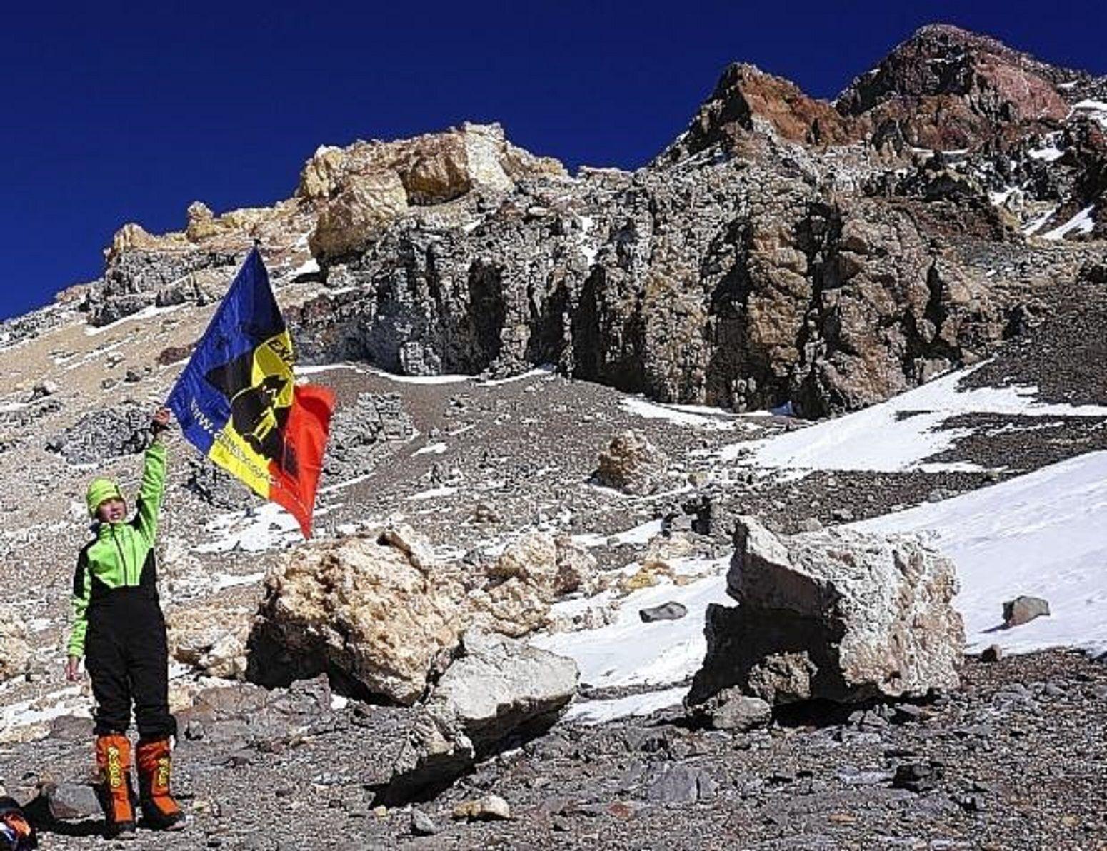 Tiene 12 años e hizo cumbre en el Aconcagua