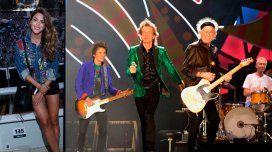 Rolling Stones: el look rockero de Agustina Casanova para el show