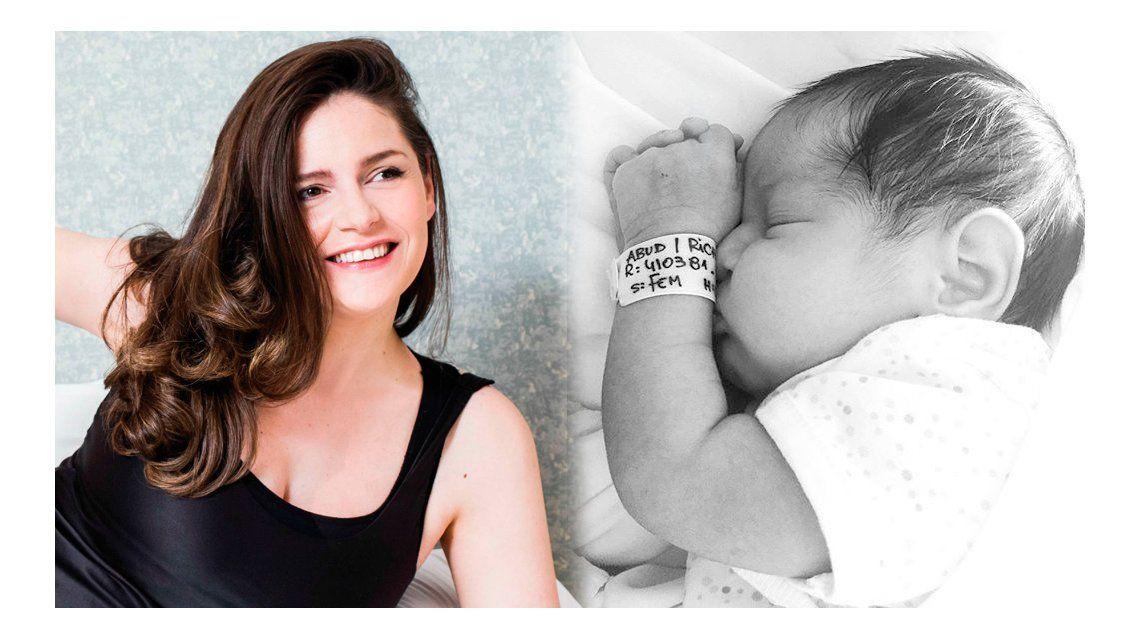 Romina Ricci fue mamá por tercera vez