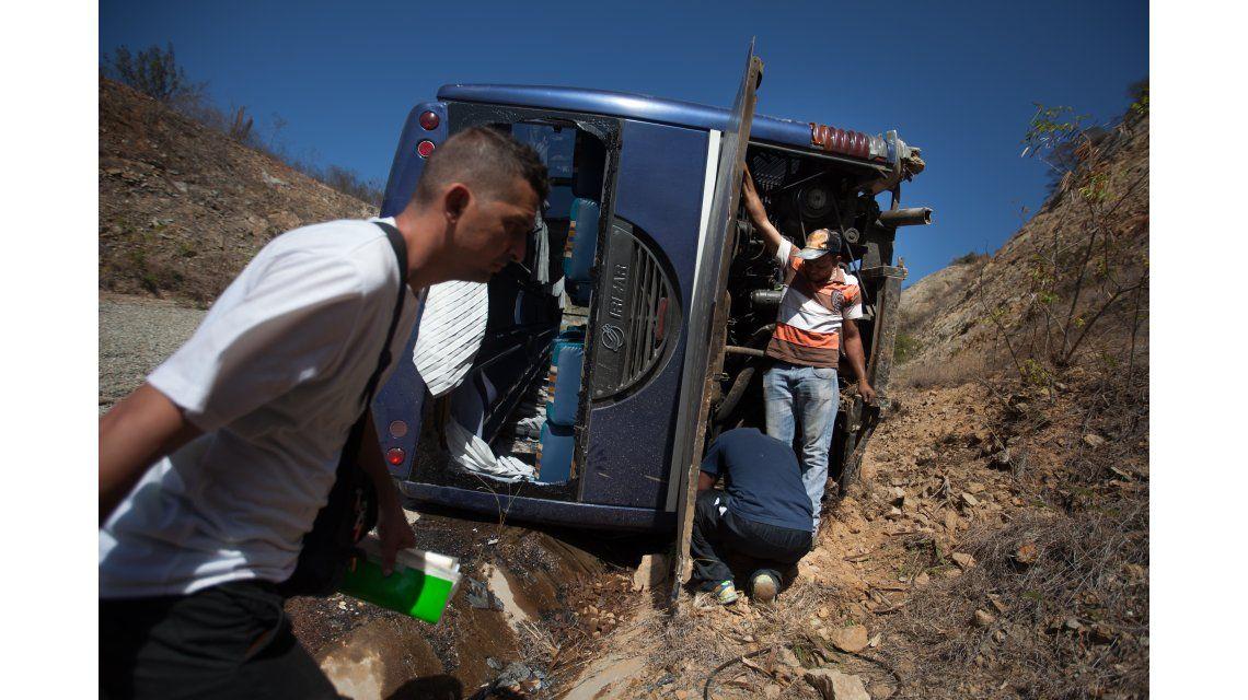 Las imágenes del accidente del plantel de Huracan