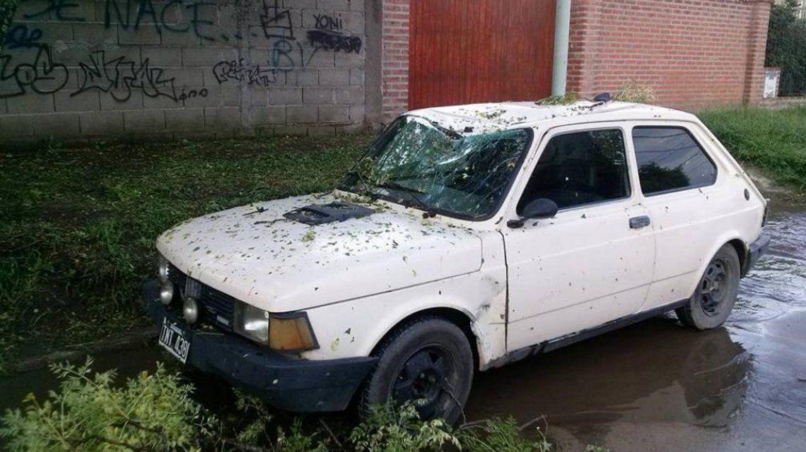 Fuerte temporal de lluvia y viento en el centro de la provincia de Buenos Aires y Córdoba
