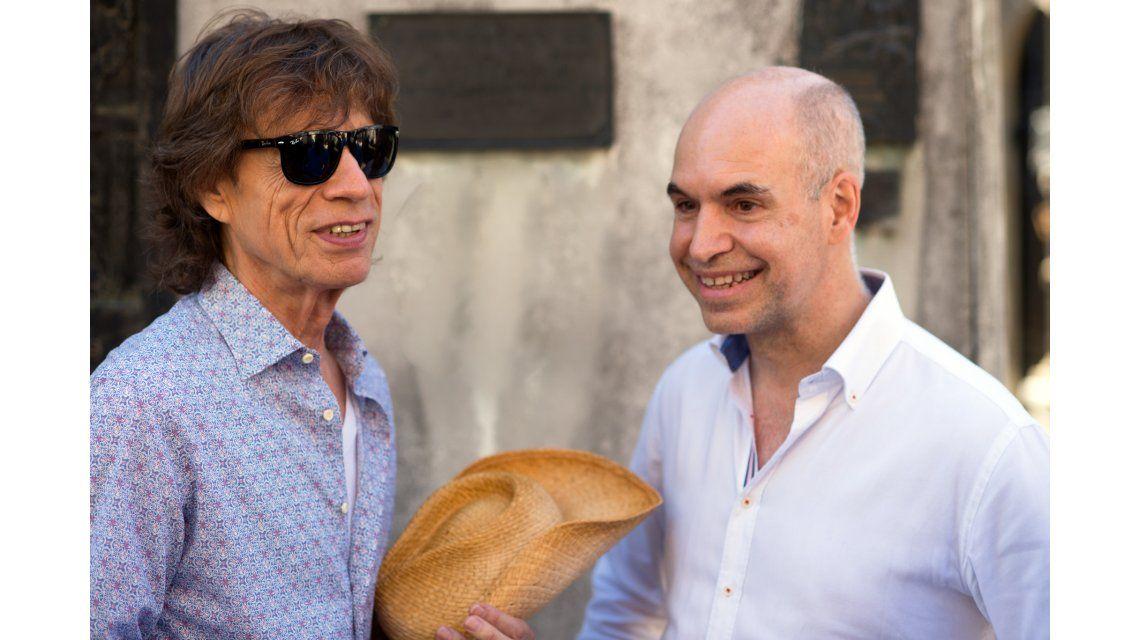 El encuentro entre Horacio Rodríguez Larreta y Mick Jagger