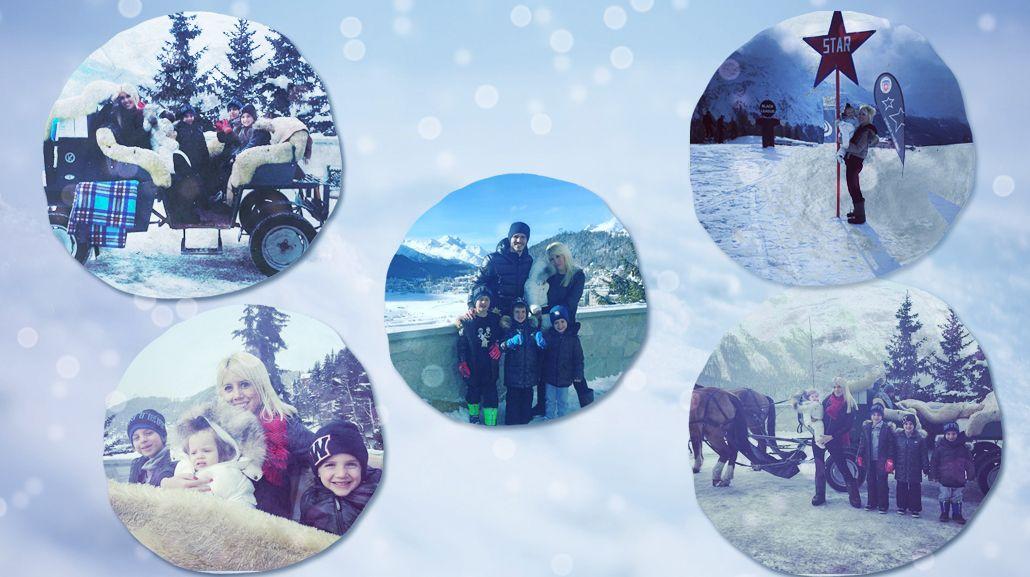 De película: las vacaciones de Wanda Nara y Mauro Icardi con su familia en Suiza
