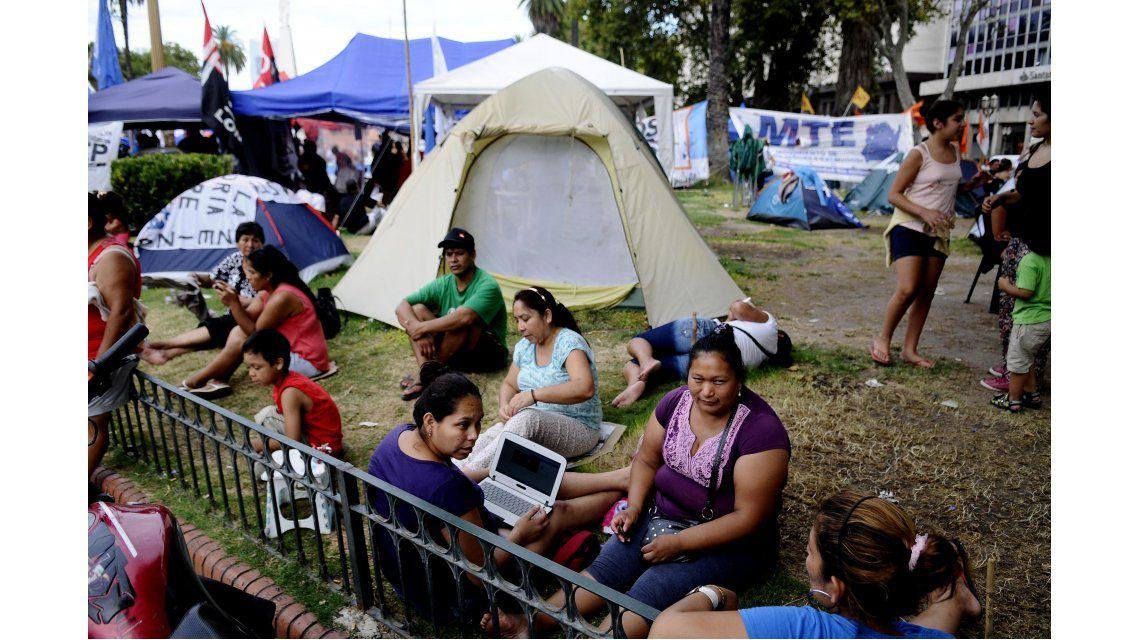 Luego de 15 días, la Tupac Amaru levantó el acampe en Plaza de Mayo