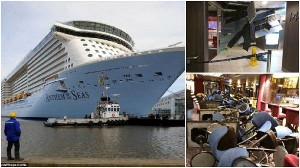 VIDEO: Tormenta aterrorizó a pasajeros de un crucero