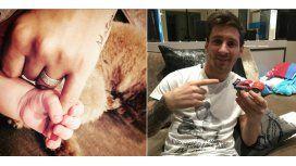 Messi festejó los cinco meses de Mateo e ironizó con la compra de la Ferrari