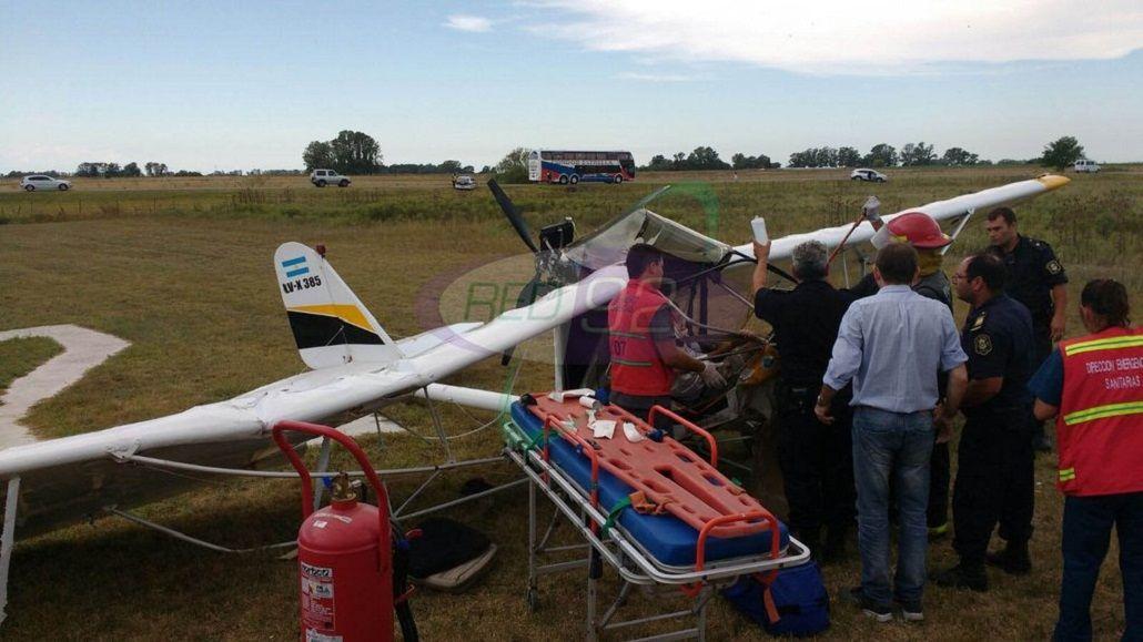 El piloto de una avioneta que cayó al costado de la ruta 36 logró sobrevivir