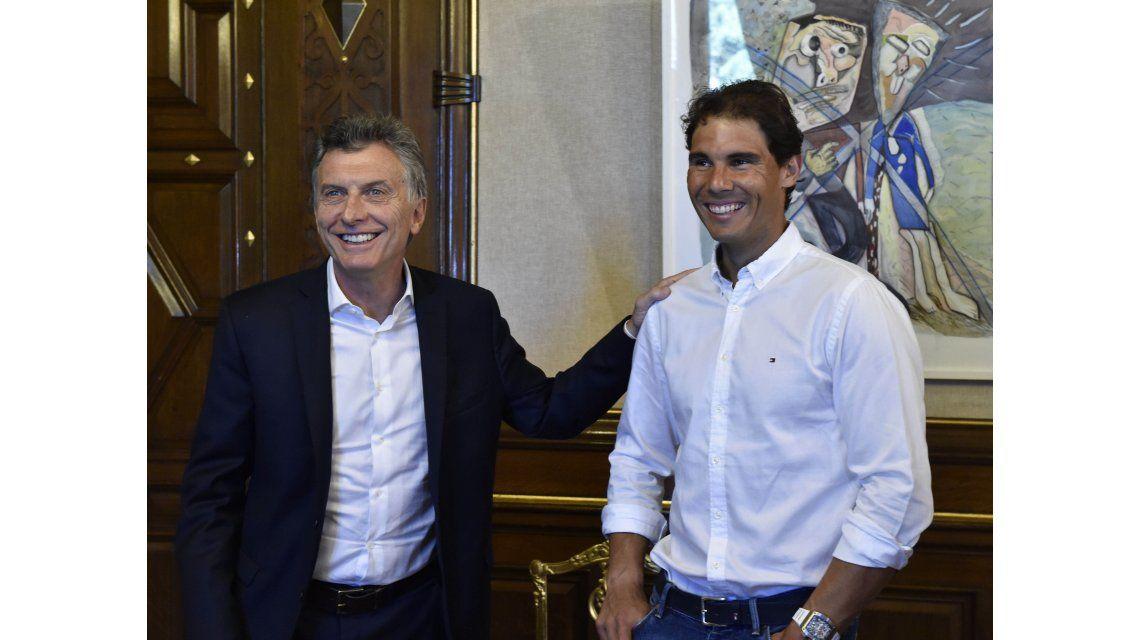 Rafael Nadal se reunió con Mauricio Macri en la Casa Rosada