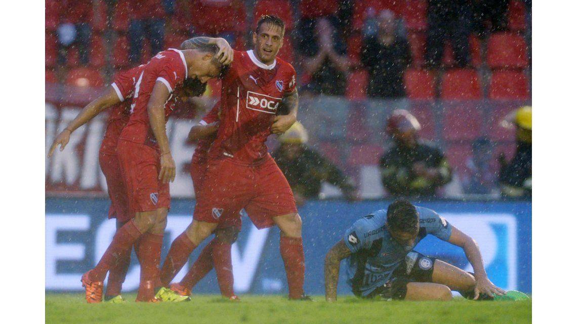 Independiente encontró el gol sobre el final y venció a Belgrano