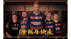 El saludo de Neymar y compañeros de Barcelona por el Año Nuevo Chino
