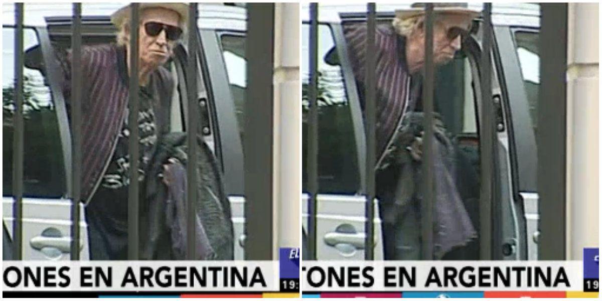 VIDEO: Los Rolling Stones llegaron a Argentina y Keith Richards saludó a los fans
